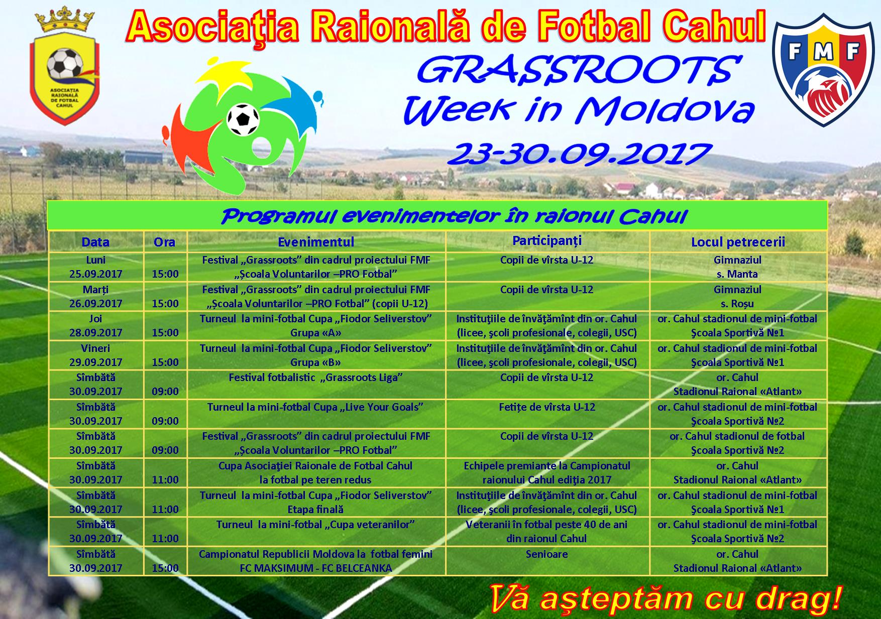 """Grassroots Week in Moldova"" 23-30.09.2017"